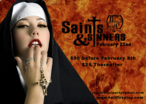 Feb 22nd - Saints and Sinners HFC
